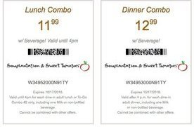 image relating to Souplantation Printable Coupons named Lunch or Supper Combo Coupon codes for Lovable Tomatoes
