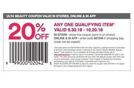 20 Off Any One Qualifying Item In Store And Online At Ulta San