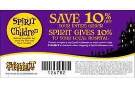 save 10 plus spirit gives 10 to your local hospital at spirit halloween san jose coupons daily draws coupons contests and more royaldrawcom