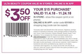 350 Off A 15 Purchase In Store And Online At Ulta San Jose
