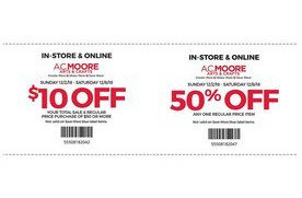 2 coupons for A C  Moore   San Jose Coupons   Daily Draws