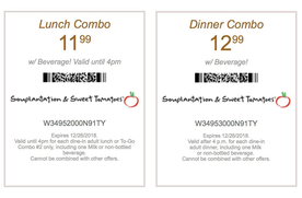 photo regarding Souplantation Printable Coupons identify Lunch or Meal Combo Coupon codes for Lovable Tomatoes