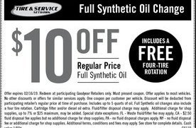 full synthetic oil change  goodyear indianapolis coupons daily draws coupons