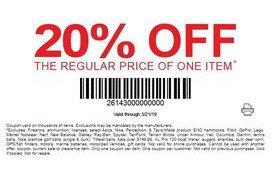 photograph regarding Dunhams Coupons Printable called 20% off 1 product at Dunhams Athletics San Jose Coupon codes