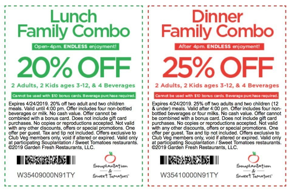 picture regarding Souplantation Printable Coupons identify Lunch or Meal Combo Discount codes for Lovable Tomatoes