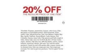 photo relating to Dunhams Coupons Printable referred to as 20% off 1 merchandise at Dunhams Athletics San Jose Coupon codes