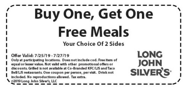 photo about Long John Silvers Printable Coupons referred to as BOGO Cost-free Foods at Lengthy John Silvers San Jose Discount coupons