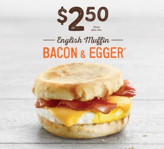 2 50 English Muffin Bacon Egger For A Limited Time Only At A W San Jose Coupons Daily Draws Coupons Contests And More Royaldraw Com