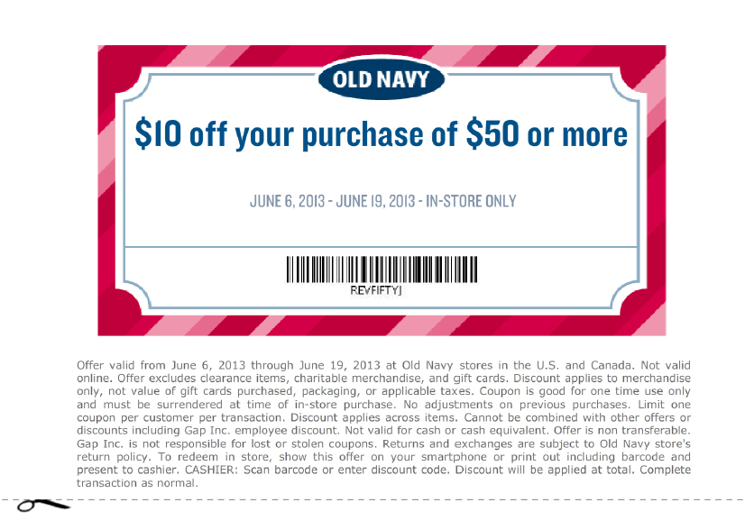 Old navy printable coupons june 2019