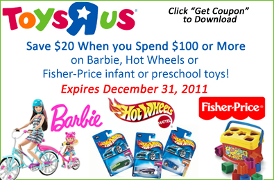 graphic relating to Fisher Price Printable Coupons identify Printable Coupon: $20 Off Whilst By yourself Pay $100 or Far more upon