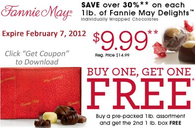 photo about Fannie May Coupons Printable identify Printable Coupon: Right until FEBRUARY 7, 2012 Simply just! Invest in A person 1lb