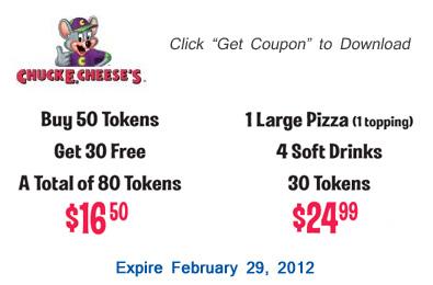 picture about Chuck E Cheese Coupon Printable titled Printable Coupon: 2 Chuck E. Cheeses Discount coupons San Jose