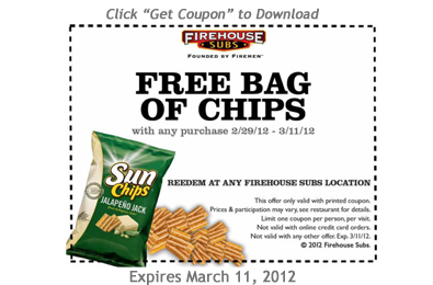 graphic about Firehouse Subs Coupon Printable identify No cost Bag of Chips With Any Obtain at Firehouse Subs