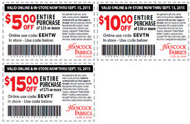3 Hancock Fabrics coupons | Los Angeles Coupons | Daily ...