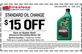 South Colorado Springs Nissan >> $15 off an oil change at Firestone | Los Angeles Coupons ...