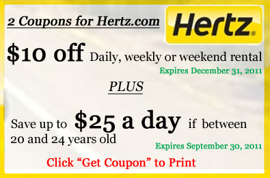 Hertz coupons discounts