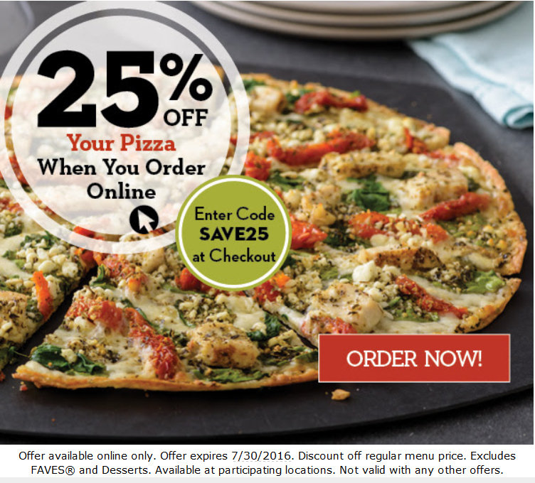 photograph relating to Papa Murphys Coupons Printable referred to as 25% off pizza on the web at Papa Murphys San Jose Discount codes