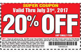 20 Off One Item At Harbor Freight Tools San Jose Coupons Daily