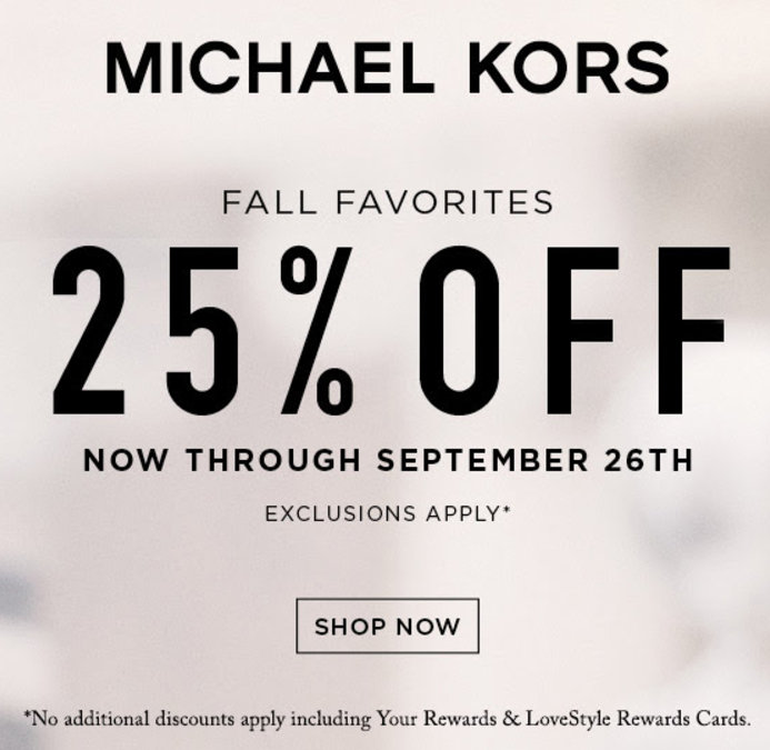 graphic about Bon Ton Printable Coupon named 25% off Michael Kors Slide Favorites at Bon Whole lot Shops San