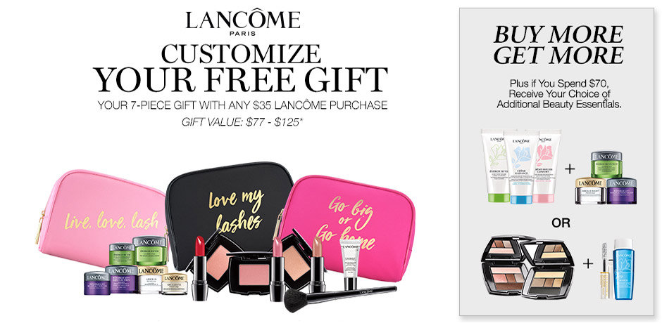 graphic regarding Bon Ton Printable Coupon identify No cost 7-piece reward with any $35 Lancome order on-line and