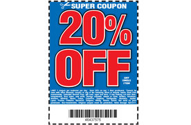 20 Off One Item At Harbor Freight Tools Los Angeles