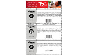 Friends & Family Event: 3 Coupons for PetSmart | San Jose