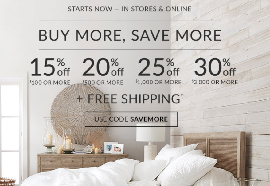 graphic regarding Pottery Barn Coupon Printable named 15% towards 30% off on the net and within just-retail outlet at Pottery Barn San