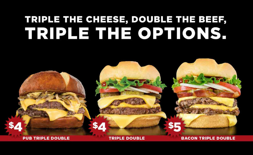 photo about Smashburger Printable Coupon identified as Triple Cheese Burgers $4 towards $5 for a minimal season simply just at