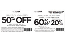 2 coupons for A C  Moore | San Jose Coupons | Daily Draws
